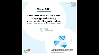 Lorusso: Assessment of developmental language and reading disorders in bilingual children