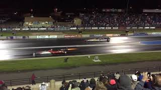 Jet cars in slow motion