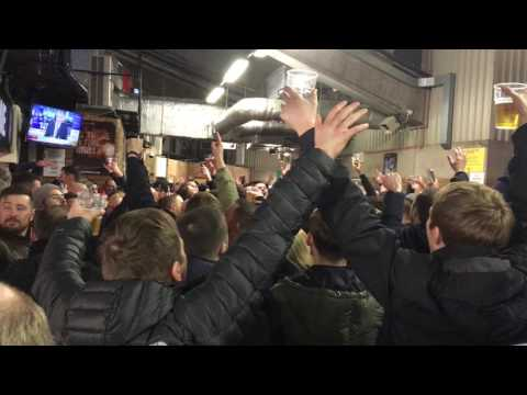 Poor Scouser Tommy - Liverpool fans at Old Trafford pre-match Jan 2017