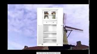 Hampton Bay 1 Drawer Tall Storage Cabinet 4-door White