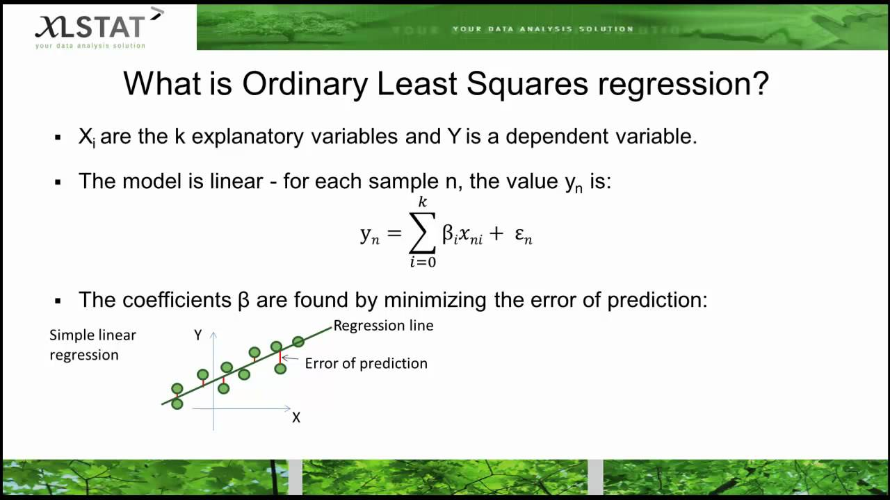 Le Ast ordinary least squares regression or linear regression