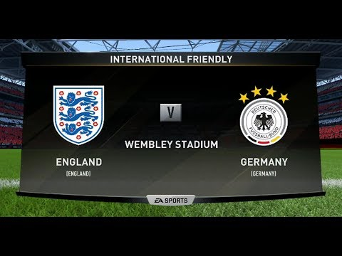 FIFA 18 ENGLAND V GERMANY XBOX ONE PS4 GAMEPLAY INTERNATIONAL FRIENDLY IN HD