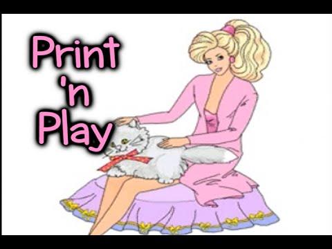 barbie print n play youtube