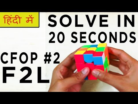 CFOP Tutorial For Beginners #2 F2L | HINDI - SOLVE In 20 SECONDS