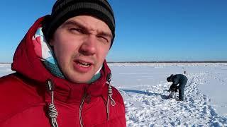 Не лучший день для зимней рыбалки. Мезень