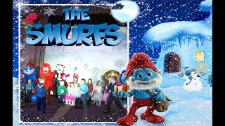 Диволяндія шоу для дитей Смуршики новогоднее представление The Smurfs show 4kids