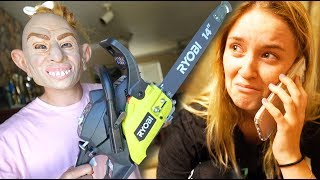 CHAINSAW KILLER PRANK ON GIRLFRIEND.... Then gave her a PUPPY!