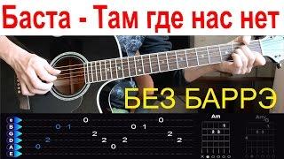 Баста - Там где нас нет (ОСТ Родина). Разбор на гитаре БЕЗ БАРРЭ
