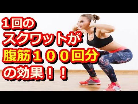 スクワットの効果が凄い!1回のスクワットが腹筋100回分の効果がある!!本気で痩せたいならスクワットがオススメ!