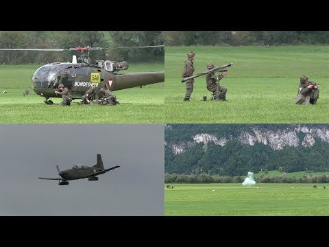 Austrian Air Force counter-air defense Alouette III & Pilatus PC7 | 50 years Alouette Airfest LOXA
