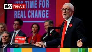 Jeremy Corbyn launches Labour's election manifesto