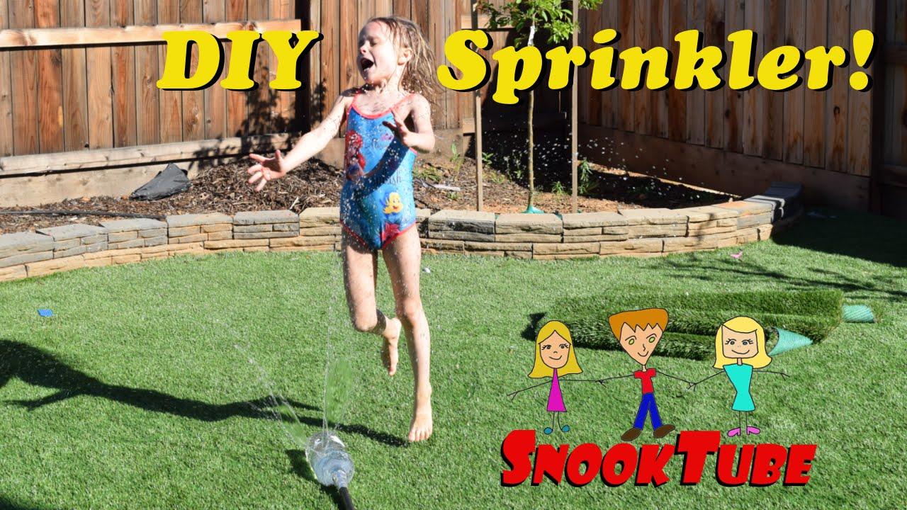 diy homemade summer sprinkler for the kids easy to make cool
