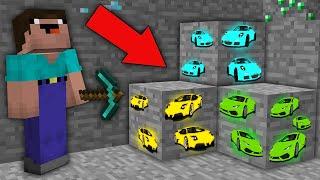 Minecraft NOOB vs PRO: NOOB MINED RAREST SUPER CAR ORE IN THIS MINE! Challenge 100% trolling