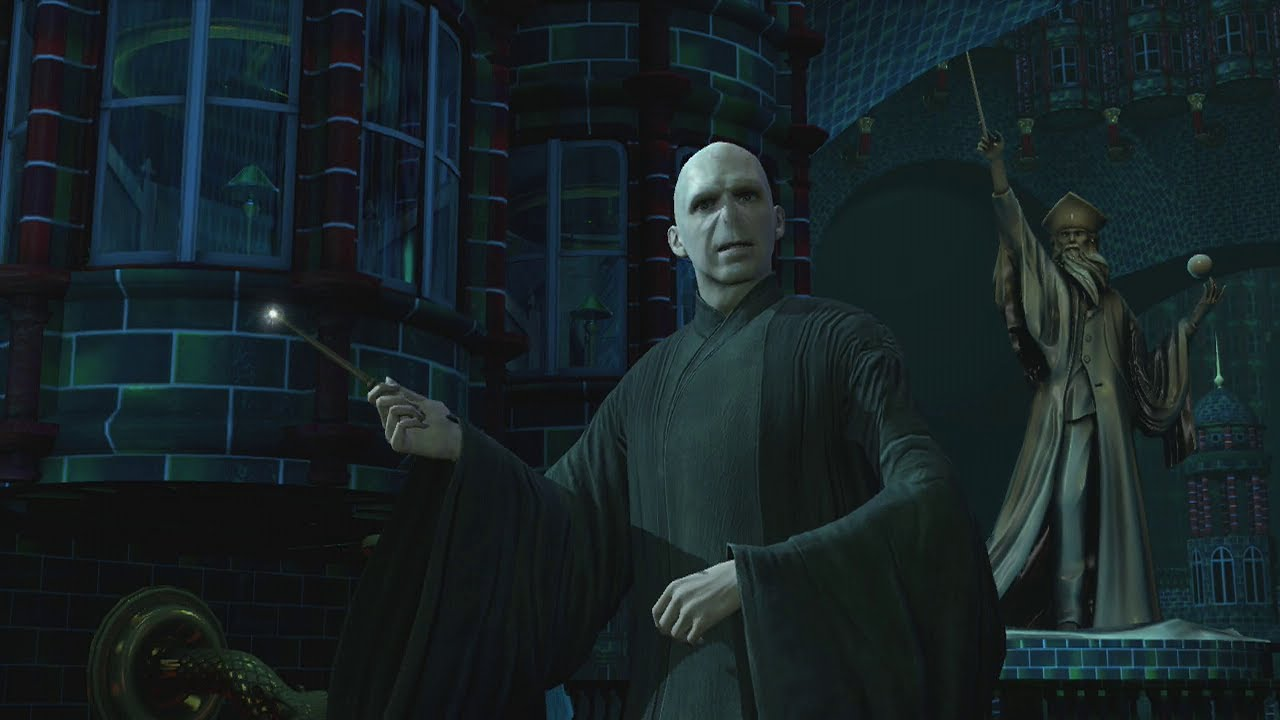 Harry Potter for Kinect - Dumbledore vs Voldemort HD - YouTube