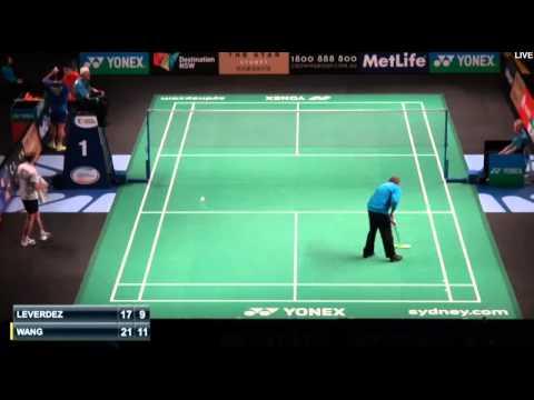 Brice Leverdez vs Wang Zhengming   R2 Australian Badminton Open 2015