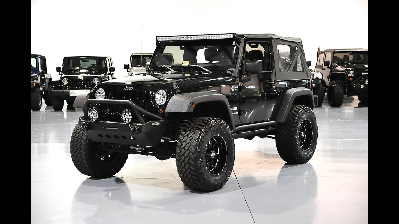 Lifted Jeep Wrangler Unlimited >> Davis AutoSports WRANGLER JK LIFTED / MODDED / LIKE NEW / 20K MILES / FOR SALE - YouTube