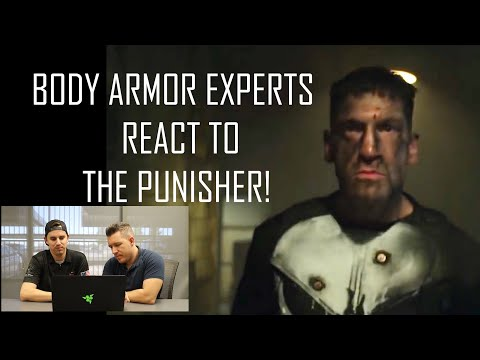 BODY ARMOR EXPERTS REACT TO NETFLIX'S THE PUNISHER!  AR500 ARMOR