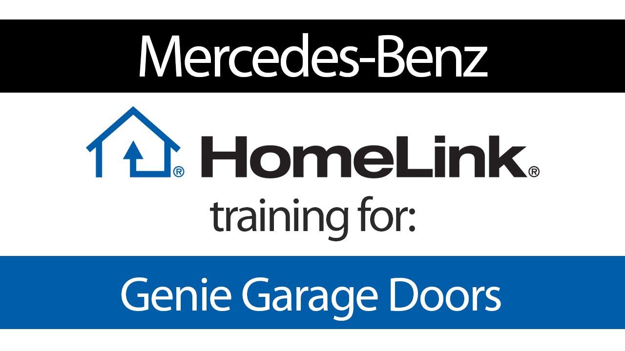 homelink training for genie garage door openers - mercedes - youtube
