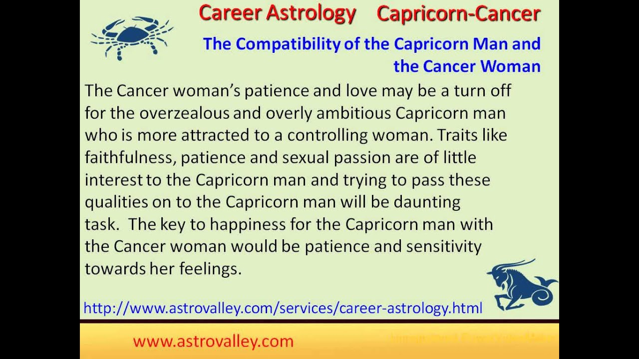 Love compatibility between cancer and capricorn