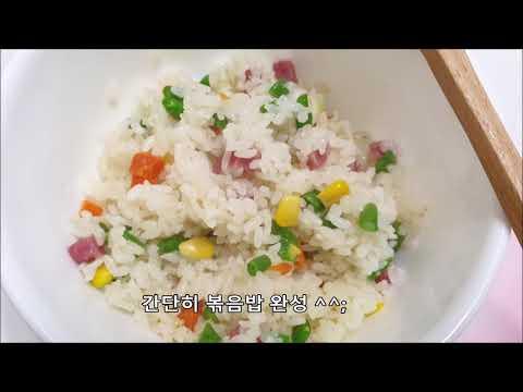 햄야채볶음밥 300g(한우물 냉동 즉석 간편 조리 뽁음밥)