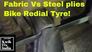 Fabric Vs Steel plies Bike Redial Tyre I Metzeler Pirelli Michelin MRF