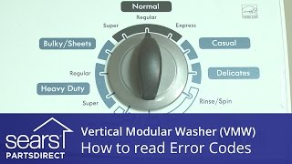 How to Read a Vertical Modular Washer (VMW) Error Code Display
