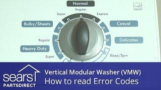 how to read a vertical modular washer vmw error code display