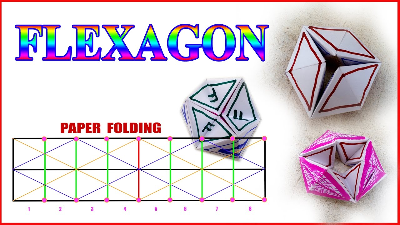 flexagon easy step by step for children artmela with diagrams