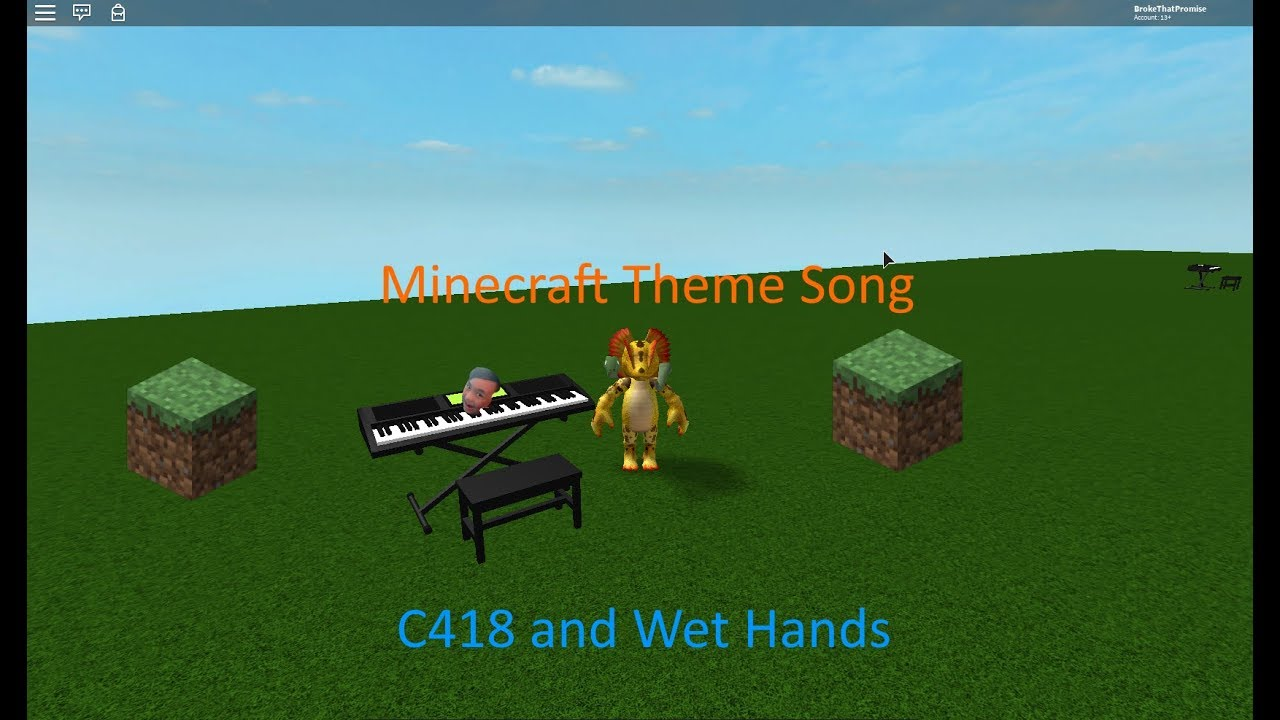 Minecraft Theme Songs On Piano Roblox Youtube