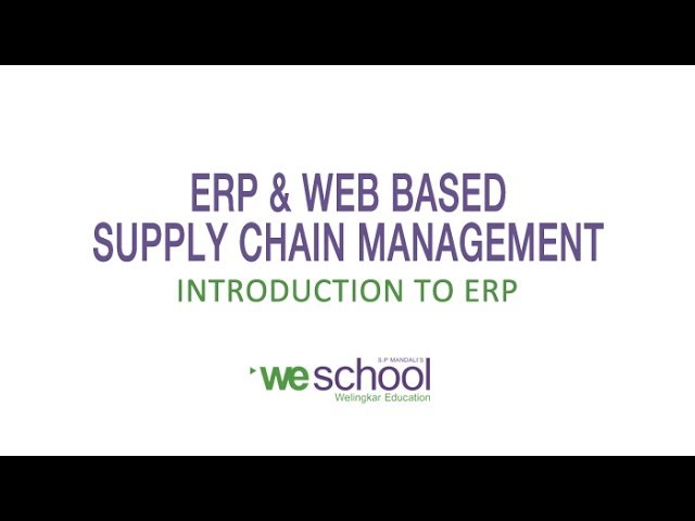 Introduction to ERP System - YouTube