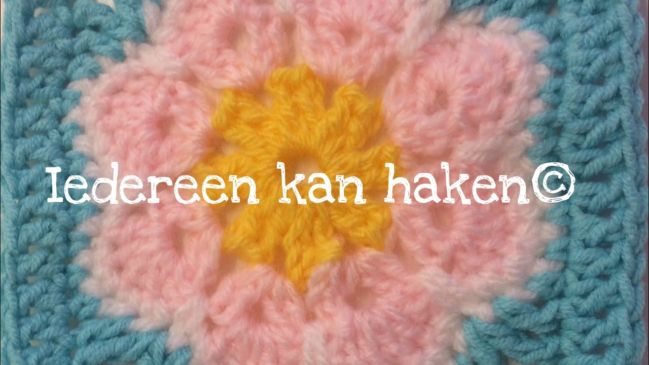 Iedereen Kan Haken African Flower Granny Square Different