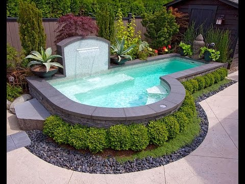 Small Pool Ideas in Your Backyard - YouTube on tiny ponds, tiny swimming pools, tiny spa pools, tiny fireplaces,