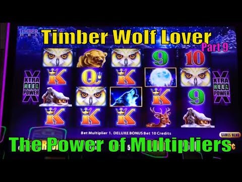 ★$UPER BIG WIN★☆Timber Wolf Lover (9)☆Timber Wolf Deluxe Slot machine★The Power of Multipliers  ☆彡栗