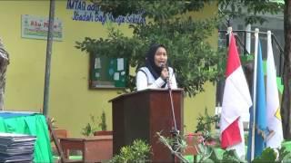 sambutan ketua OSIS SMPN 1 Balongpanggang
