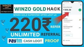 WinZo Gold SuperStar Big Proof