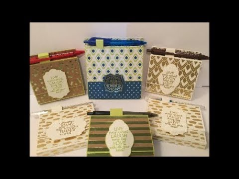 Post It Note Holder and Pen Gift Set with Stampin Up Easy & Quick Teacher Gift