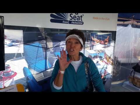 United States Sailboat Show Annapolis, MD 2016 - portable boat cushion - Sport-a-Seat