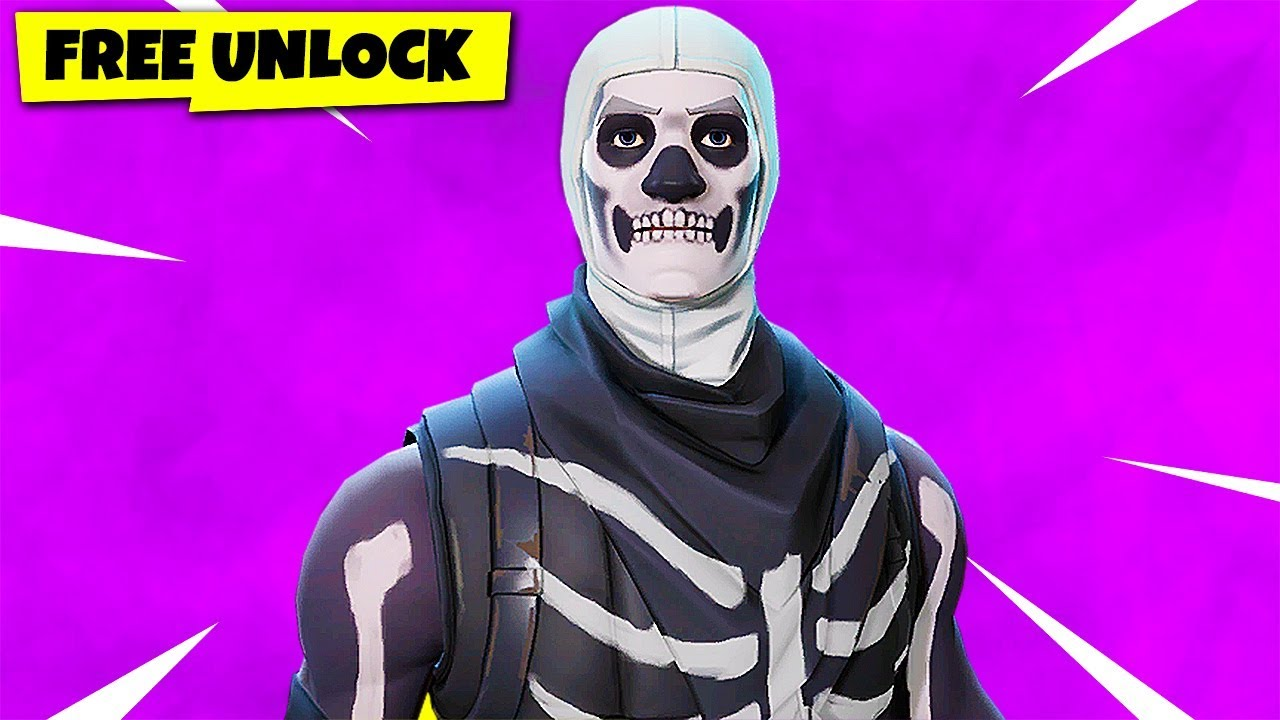 how to get a free skull trooper skin in fortnite chaos youtube