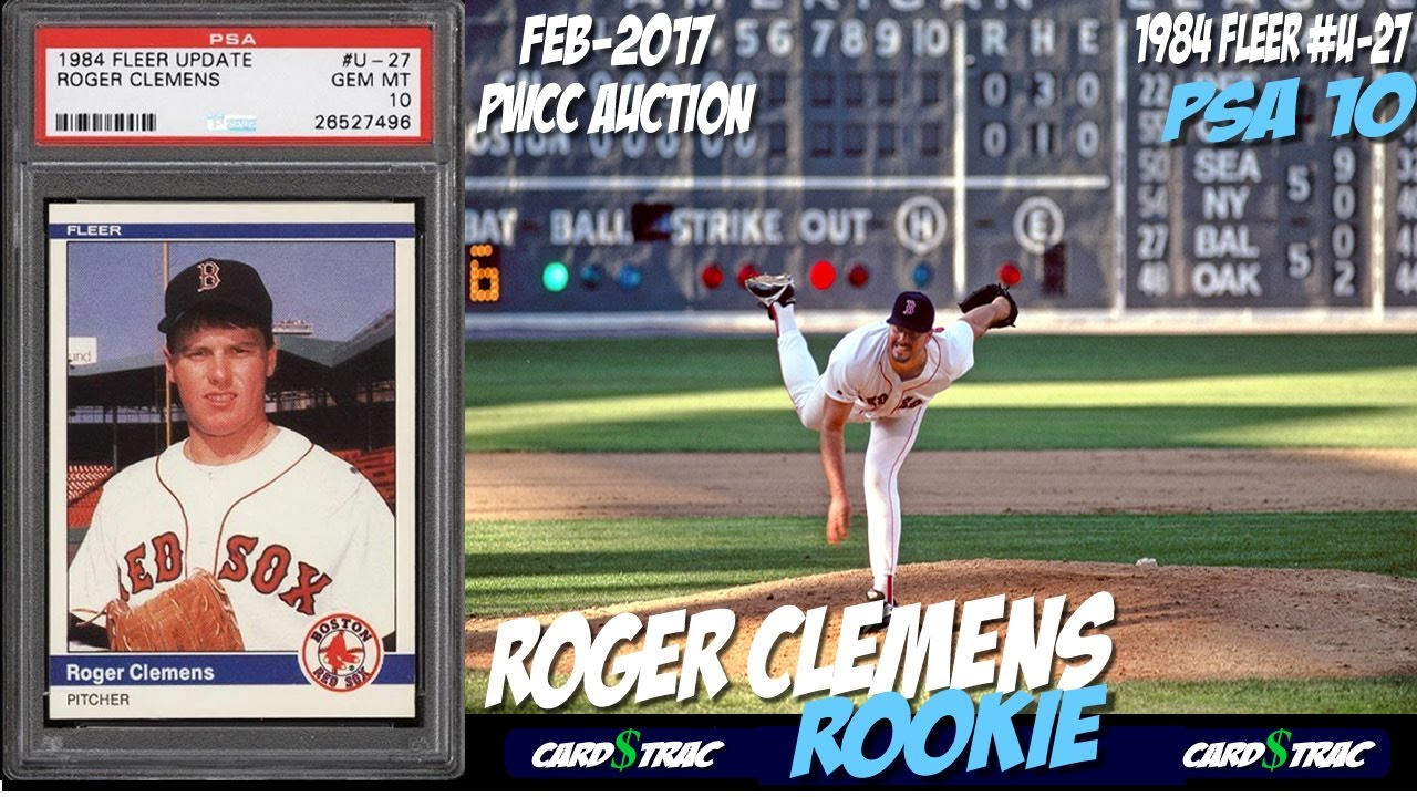 1984 Roger Clemens Rookie Card Fleer Update Psa 10