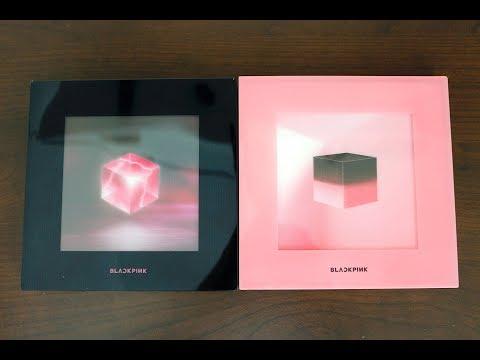  Unboxing  BLACKPINK 블랙핑크 - 1st Mini Album 'Square Up' (Both Versions)