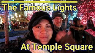 Salt Lake City Temple Square Christmas Lights with My Family