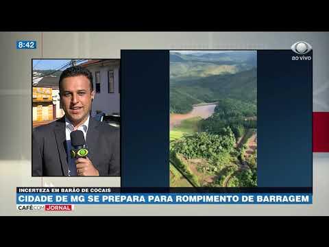 Barão de Cocais/MG se prepara para rompimento de barragem