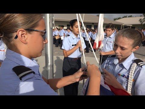 Education Spotlight-Sarasota Military Academy-Flag Ceremony