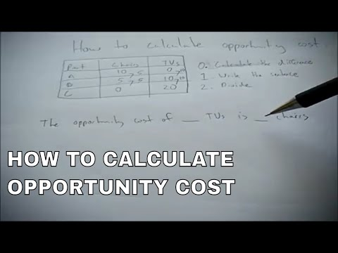 How to calculate opportunity costs