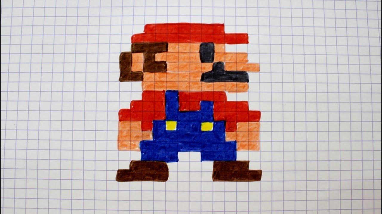 Dessin Pixel De Mario Mario Dessin Facile 24911 Dessin