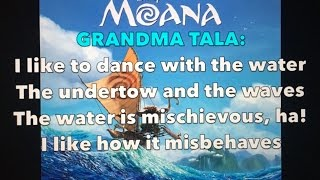 Where You Are - Moana (Lyrics)