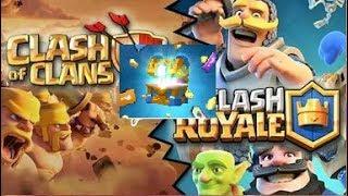 Открываю сундуки в Clash Royale ! Фанюсь в Clash of Clans! Моё новое интро :)