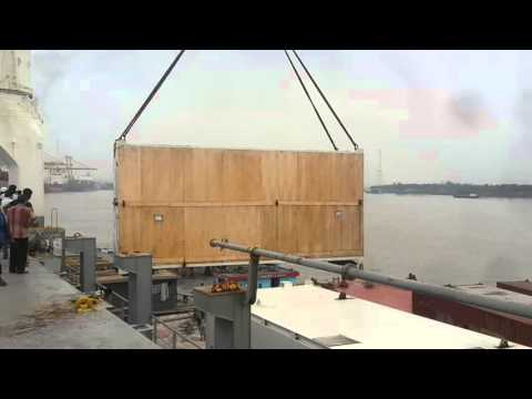 AMMS Logistics : Simulator Unloading from Mother Vessel to Barge