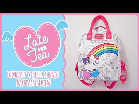 [Late For Tea]: Loungefly X Hello Sanrio Backpack Review  | GroovyRoo