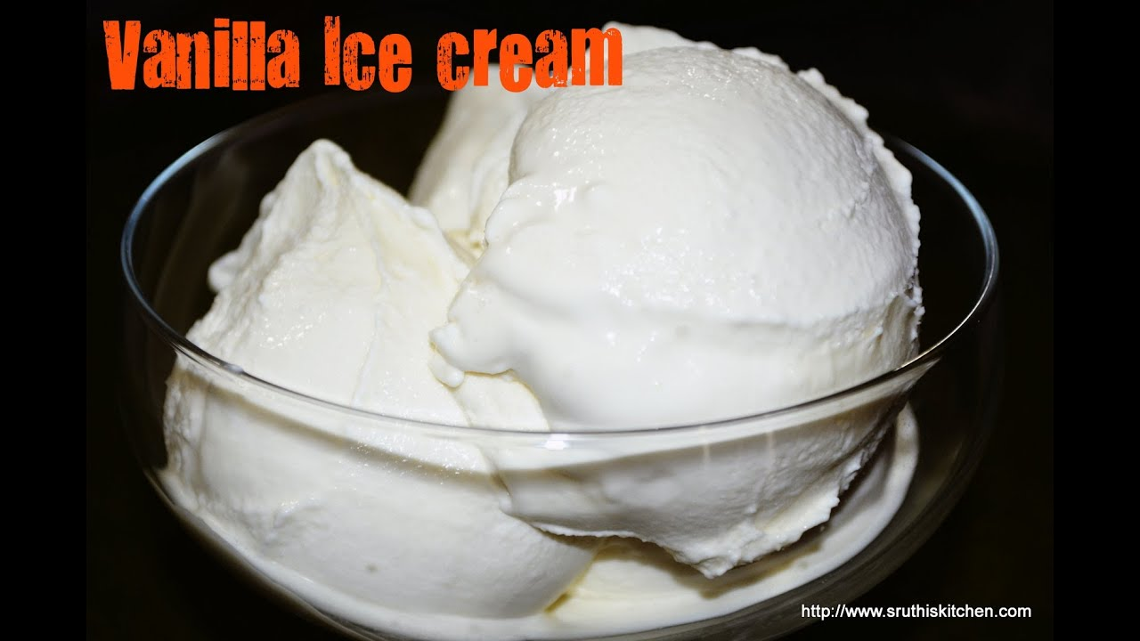 Vanilla Ice Cream - Eggless Recipe - YouTube